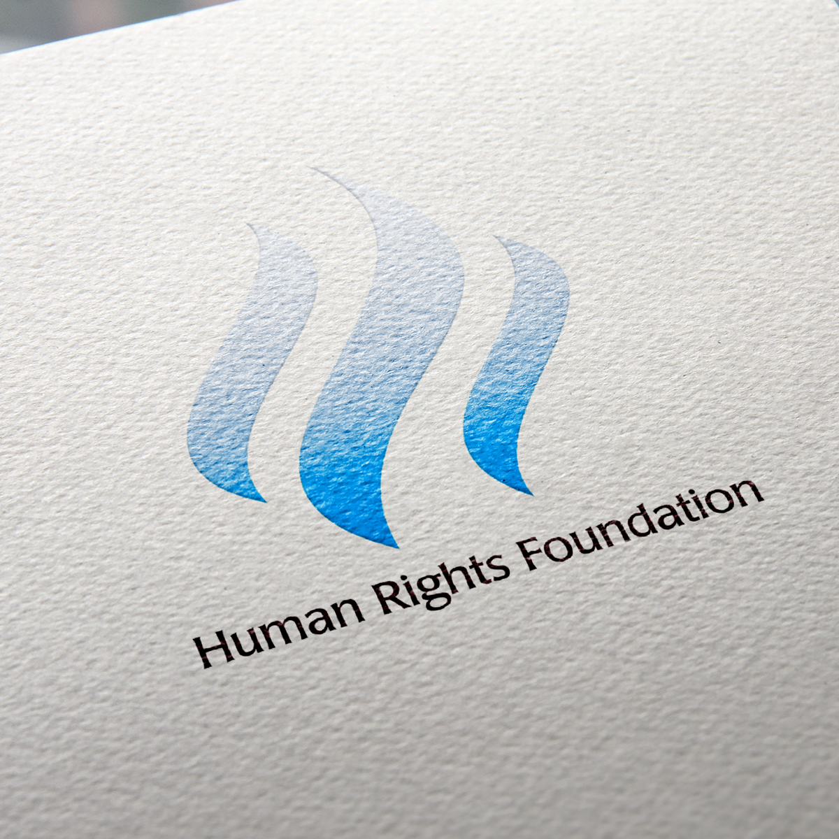 Human Rights Foundation's Printed Logo